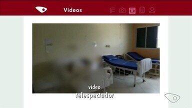 Acompanhante de idoso internado denuncia estrutura de hospital em Aracruz, no ES - Situação acontece no Hospital São Camilo.