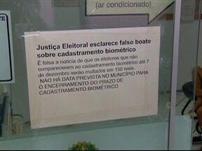 Boato sobre multa por não cadastrar biometria lota cartórios eleitorais - TRE desmentiu a informação.