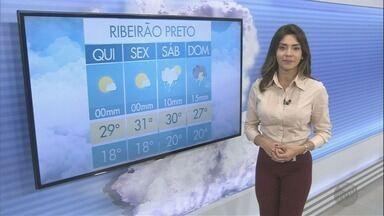 Veja a previsão do tempo para esta quinta-feira (23) na região de Ribeirão - O sol deve aparecer por mais tempo, mas ainda há previsão de chuva.