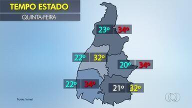 Confira a previsão do tempo para o estado nesta quinta-feira (23) - Confira a previsão do tempo para o estado nesta quinta-feira (23)