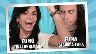 Marcelo Adnet, Camila Pitanga, André Marques e Silvero Pereira inventam memes com Gretchen - Cada um tirou uma foto com a rainha dos memes
