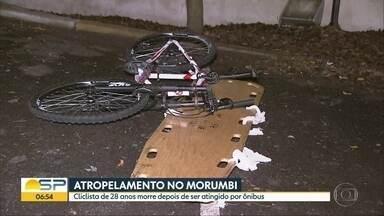 Ciclista morre após ser atropelado por onibus na Zona Sul de SP - Christian Maciel, de 28 anos, foi atingido pelo ônibus na Avenida Giovani Gronchi