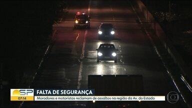 Motoristas reclamam de assaltos na Av do Estado, Centro de SP - Tem quem mude o caminho ou até o carro para tentar evitar assaltos.