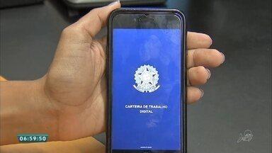 Aplicativo carteira de trabalho digital faclitita a vida dos trabalhadores - Saiba mais em g1.com.br/ce