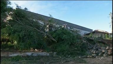 Forte chuva atinge Itaberá e deixa casas destelhadas - Uma forte chuva atingiu Itaberá (SP) e causou estragos em vários bairros da cidade.