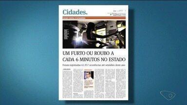 Cidades do Norte do ES lideram estatísticas de furtos e roubos no estado - Uma das cidades onde mais acontece esse tipo de crime é Linhares.