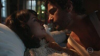 Lucinda e Inácio aproveitam a lua de mel em Petrópolis - Justino pensa em se casar com Tiana