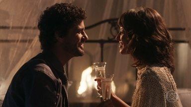 Lucinda e Inácio chegam à casa em Petrópolis - Emília teme que Inácio tenha se casado com Lucinda por gratidão