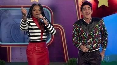 Tio Cecelo recebe Ludmilla - Cantora fez música especial para a criançada