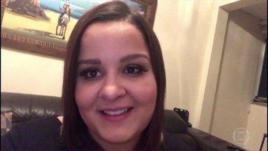 Maiara manda mensagem para Juliano - Cantor comemora aniversário no 'Altas Horas'