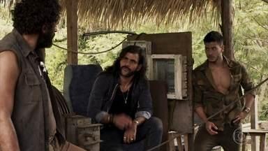 Diego descobre o envolvimento de Sophia e Mariano - O garimpeiro se desentende com Rato, que acaba falando demais