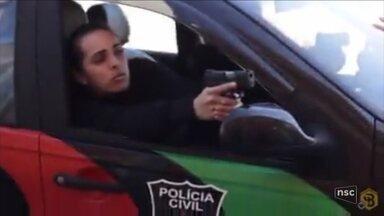 Marido é preso suspeito de ter matado policial civil - Marido é preso suspeito de ter matado policial civil