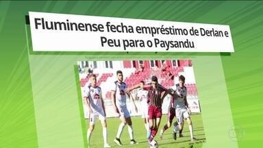 Fluminense acerta empréstimo do atacante Peu e de Derlan, da base, para o Paysandu - Além deles, Nogueira deve ser emprestado para o Figueirense.