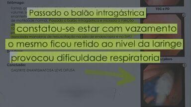 Família de paciente morta alega negligência medica em São Carlos, SP - Paciente faleceu após um procedimento de colocação de um balão intragástrico.