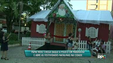 Está tudo pronto para a chegada do Papai Noel em Paranavaí - Ele chega nesta sexta-feira (8), na praça da prefeitura