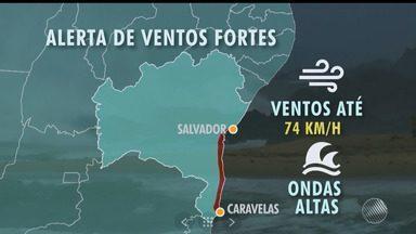 Previsão do tempo: frente fria causa instabilidade em toda a Bahia - Marinha emitiu alerta de ventos fortes com rajadas de ventos para o litoral da Bahia.