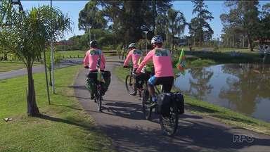 Ciclistas vão percorrer 510 quilômetros em área onde fica a Escarpa Devoniana - A viagem deve durar oito dias. Eles são contra um projeto de lei que propõe reduzir a Área de Proteção Ambiental da Escarpa Devoniana.