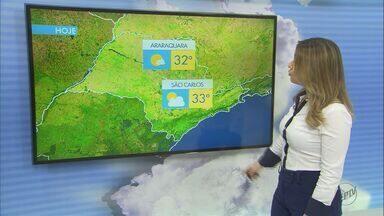 Confira a previsão do tempo para esta segunda em São Carlos e região - Confira a previsão do tempo para esta segunda em São Carlos e região