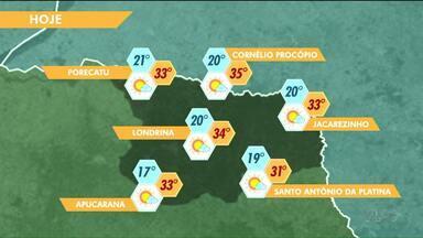 Previsão de sol e calor para a semana - Um sistema de alta pressão inibe a formação de nuvens carregadas no Paraná.