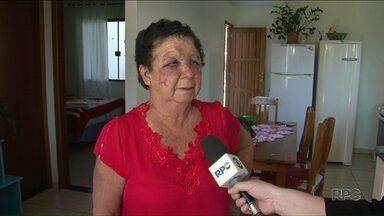 Idosa é agredida por três horas durante assalto em Francisco Beltrão - A mulher de 73 anos sofreu vários hematomas.