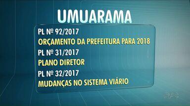 Câmaras de Umuarama e Cianorte fazem última sessão do ano nesta segunda - Em Paranavaí, é a penúltima sessão ordinária de 2017.