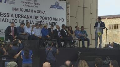 Ministro dos transportes inaugura viaduto em Porto Velho e anuncia investimentos novos - Os investimentos são para aeroportos no interior do estado.