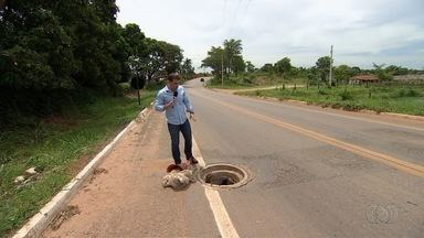 Bueiros sem tampa oferecem riscos aos motoristas em Goiânia - Prefeitura e Saneago dizem que fazem vistorias para evitar os problemas.