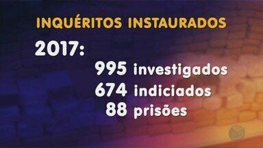 Polícia Federal divulga balanço de operações feitas em 2017 na região de Ribeirão Preto - Números mostram que a Polícia Federal está mais rápida nas investigações.