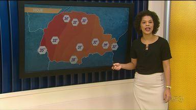 Calor predomina nesta quinta-feira no Noroeste - Pancadas de chuva podem cair a qualquer momento agora à tarde.