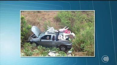 Uma pessoa morre e três ficam feridas em acidente na BR 316 - Uma pessoa morre e três ficam feridas em acidente na BR 316