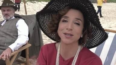 'Vídeo Show' mostra bastidores de gravação na praia em 'Tempo de Amar' - Elenco mostra o que rola nos intervalos das gravações