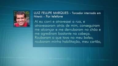 Torcedor internado relata agressões no Maracanã - Torcedor internado relata agressões no Maracanã.