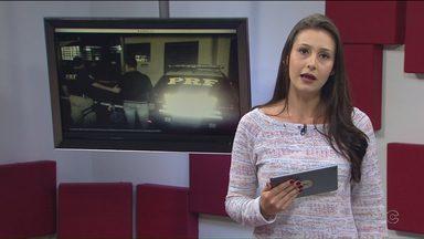 Homem que tentou estuprar passageira durante viagem de ônibus é preso pela PRF em PG - A moça pediu ajuda para o motorista, que parou no posto da Polícia Rodoviária Federal.