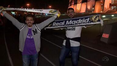 Com apoio da torcida, Real Madrid enfrenta o Grêmio no sábado (16) - Assista ao vídeo.