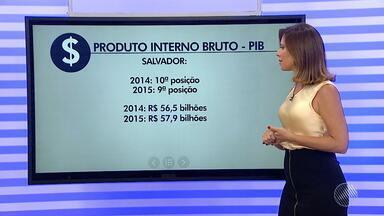 Salvador sobre uma posição no ranking nacional do PIB, segundo o IBGE - A capital baiana ocupa a nona colocação na lista e tem o maior PIB do Nordeste.