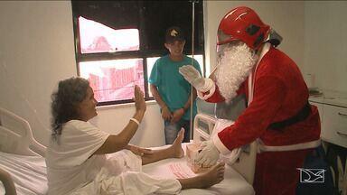 Papai Noel visita pacientes do Hospital Tarquínio Lopes Filho em São Luís - Visita do bom velhinho levou fé e esperança a pacientes que lutam pela vida.