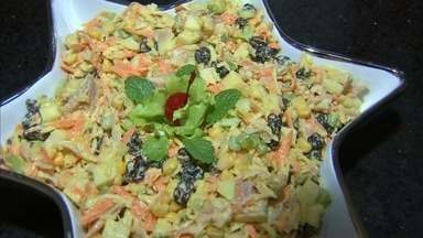 Receita fácil de Natal: salpicão é delicioso e fácil de fazer - Confira mais notícias em G1.Globo.com/CE.