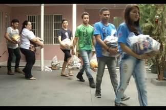 Veja histórias emocionantes de ações solidárias no interior do estado - Em Parauapebas, jovens católicos doam roupas e alimentos o ano inteiro.