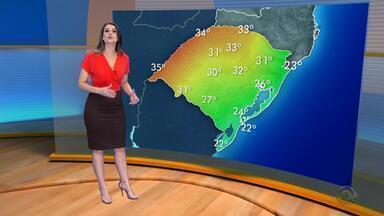 Tempo: chuva continua atingir regiões do RS na terça-feira (19) - Assista ao vídeo.