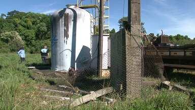 Polícia procura vândalo que destruiu posto em Renascença - Cidade ficou desabastecida durante os últimos dias.