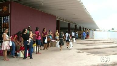 Obra atrasada em rodoviária atrapalha passageiros que embarcam em Araguaína - Obra atrasada em rodoviária atrapalha passageiros que embarcam em Araguaína