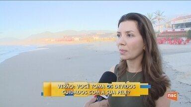 Dermatologista dá dicas de como cuidar da pele na praia - Dermatologista dá dicas de como cuidar da pele na praia