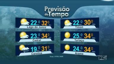 Veja as variações das temperaturas no Maranhão - Deve chover nesta sexta-feira (22) em grande parte do Maranhão.