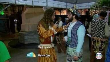 Baile do Menino Deus apresenta nascimento de Jesus através da cultura popular - Espetáculo natalino é encenado no Marco Zero há 14 anos.