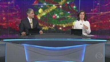 Jornal Nacional - Íntegra 25 Dezembro 2017 - As principais notícias do Brasil e do mundo, com apresentação de William Bonner e Renata Vasconcellos.