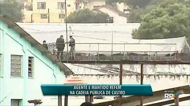 Presos da Cadeia Pública de Castro liberam refém - Rebelião foi controlada depois de quase 20 horas.