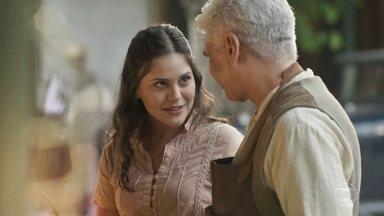 Geraldo pede ajuda a Helena para conquistar Nicota - Nicota estranha silêncio de admirador secreto