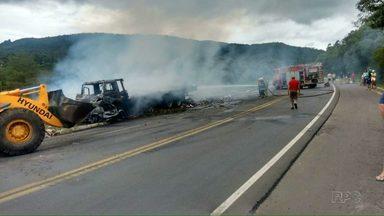 Durante feriado prolongado de Natal 16 pessoas morrem em acidentes nas estradas do Paraná - O mais grave deles foi na região de União da Vitória.