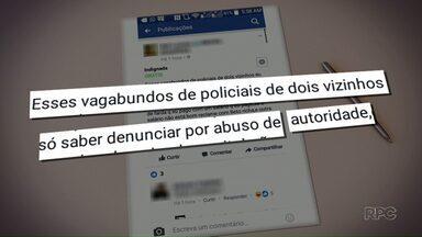 Mulher é detida depois de xingar policiais em redes sociais - Os policiais tinham ido até a casa dela depois de reclamações de perturbação de sossego.