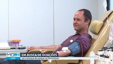 Fundação Hemominas precisa aumentar estoque de doações de sangue - Situação já é crítica para alguns tipos sanguíneos